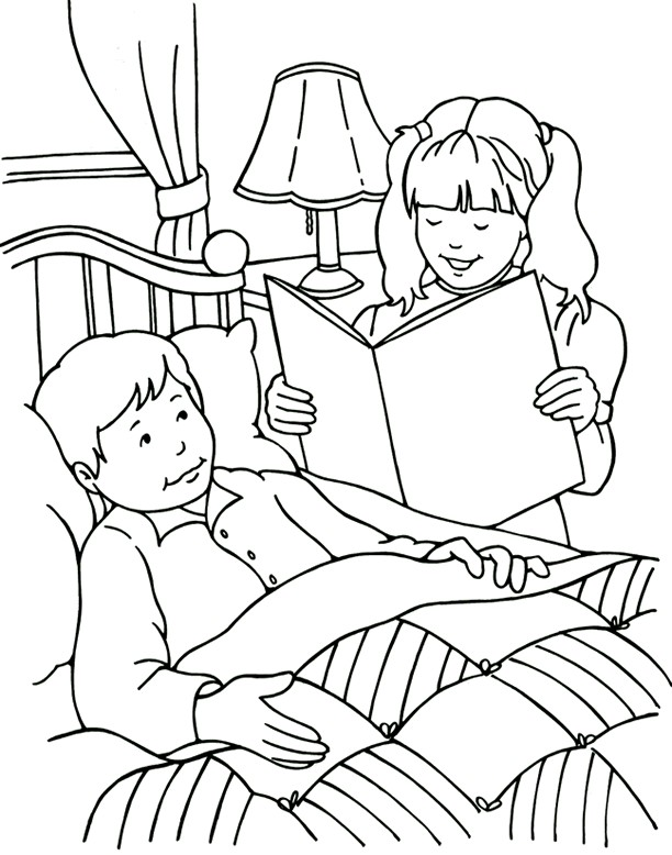 coloring pages children helping - photo#16