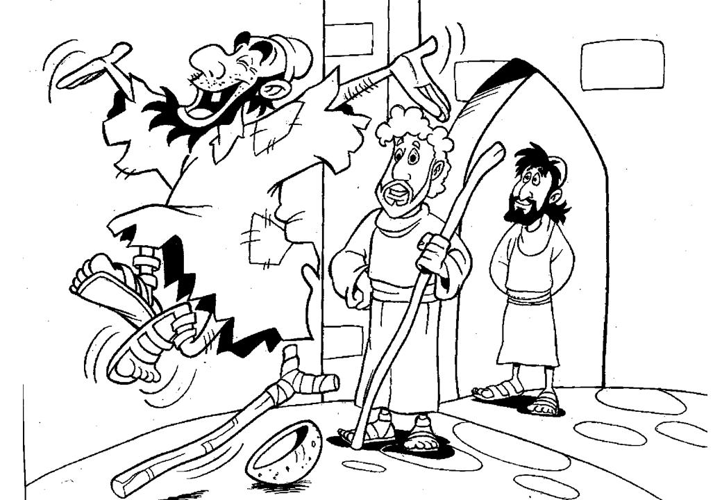 Walking leaping and praising god spinner game for peter for Peter and john heal the lame man coloring page