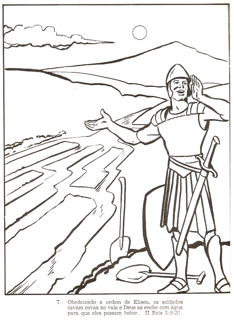 Elisha and the blind army colouring pages 2 kings 6 8 23 for Elisha coloring pages