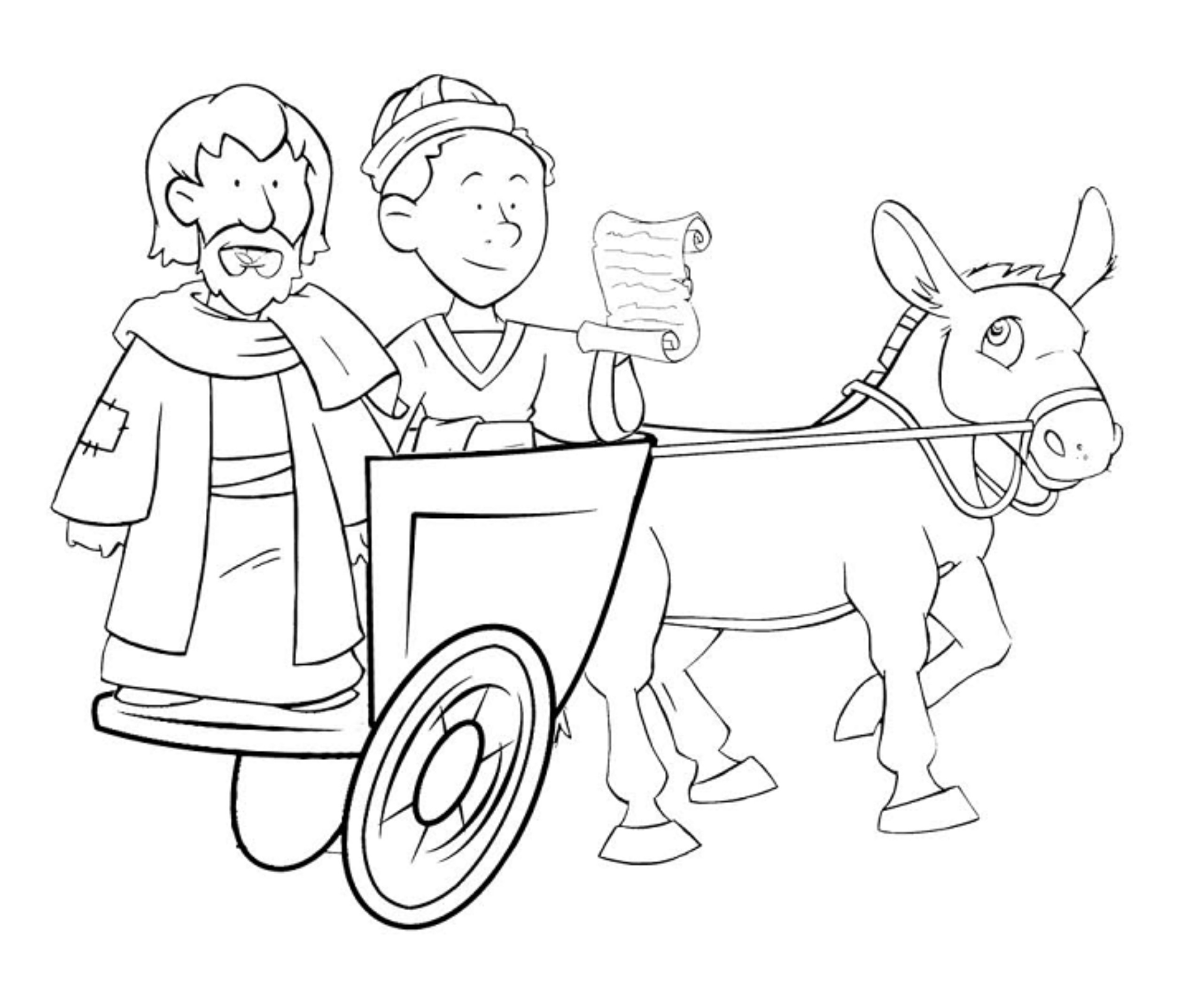 Philip and the ethiopian eunuch coloring page coloring pages for Ethiopian eunuch coloring page
