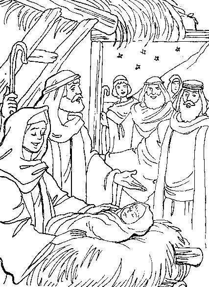 angels announce jesus birth coloring pages - jesus nos ama