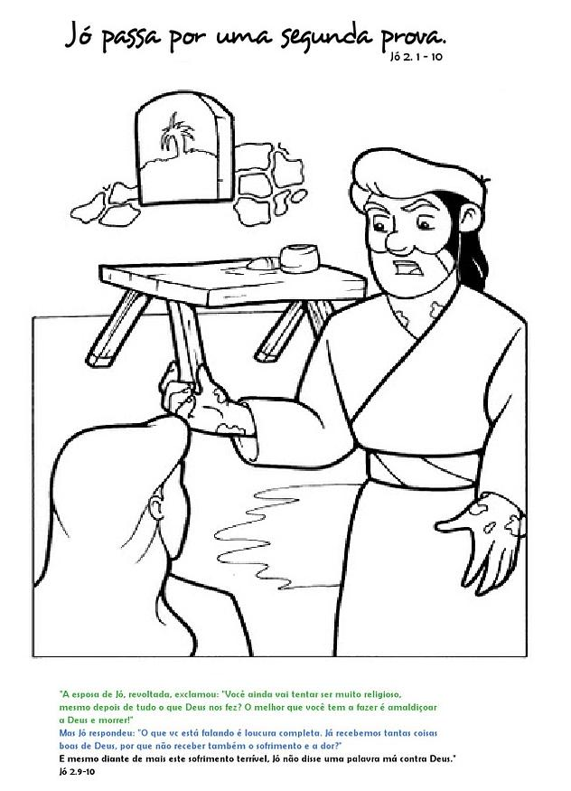 bible job coloring pages - photo#21