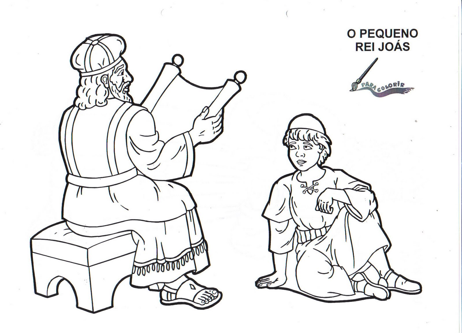 1000 images about king joash on pinterest for King joash coloring page