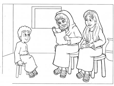 paul and timothy coloring pages - photo#17