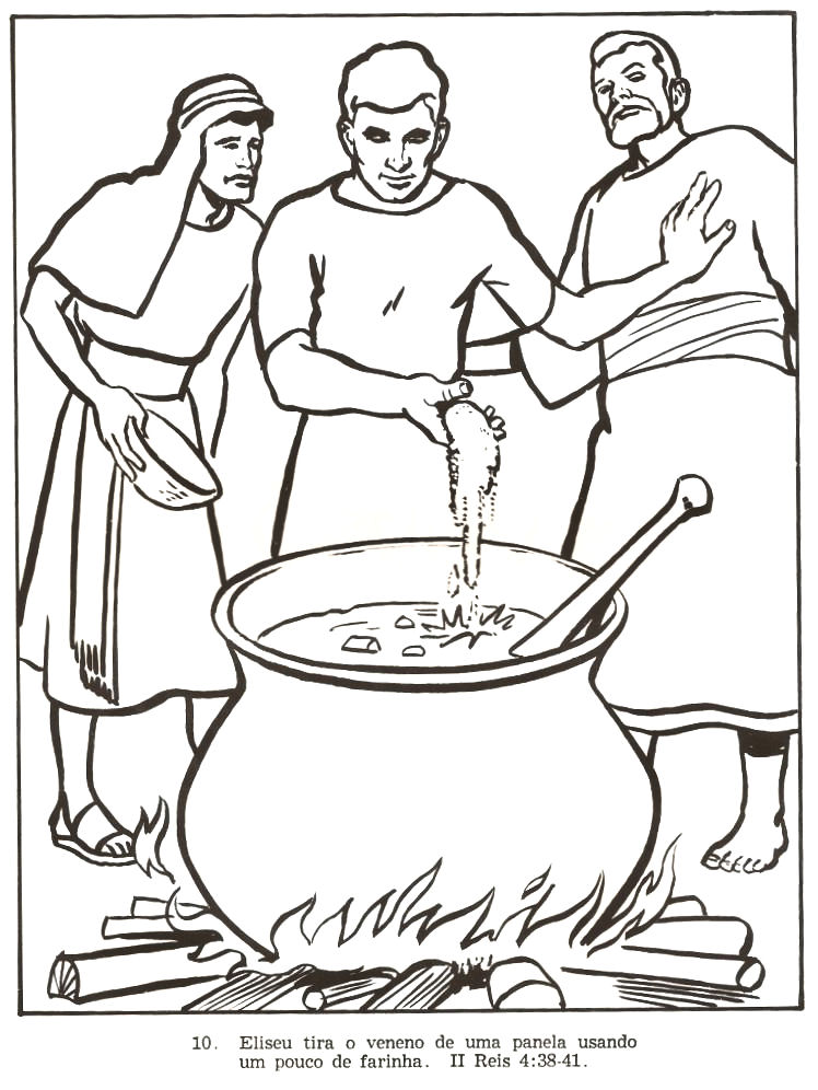 Elisha And The Chariots Of Fire Coloring Pages Sketch ...